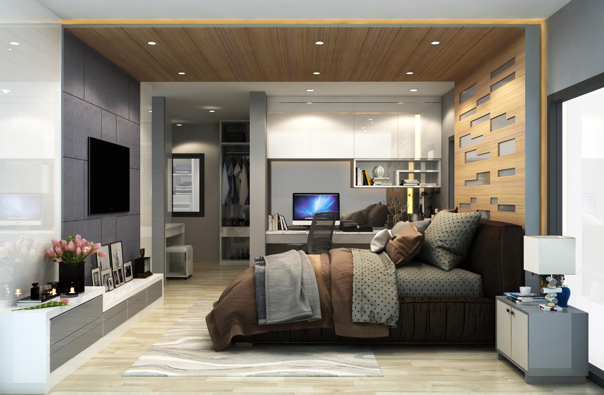รับทำภาพ 3D interior ออกแบบตกแต่งภายใน